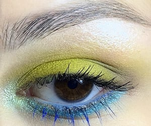 blue, green, and makeupartist image