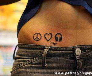 music, peace, and love image