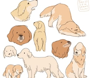 dog, drawing, and puppy image