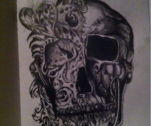 black and white, cool, and scull image