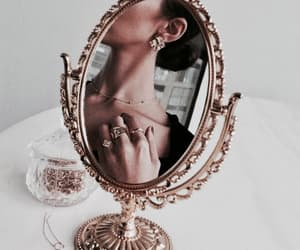 mirror, jewelry, and aesthetic image