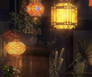 anime, flowers, and lamp image