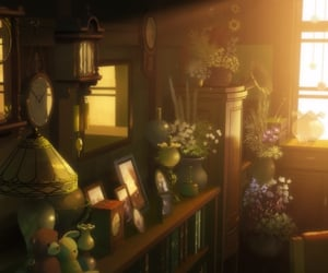 anime, books, and clocks image