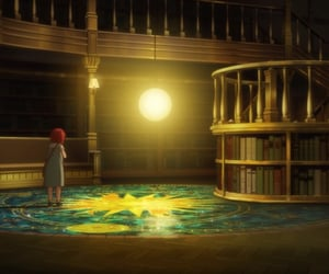 anime, books, and floor image