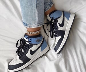 shoes, nike, and blue image