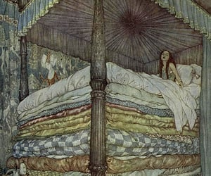 princess, illustration, and bed image