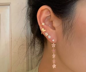 accessories, ear pierced, and earrings image