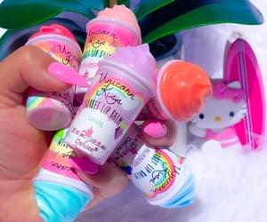 aesthetics, lip balm, and rainbow image