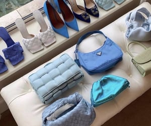 bag, style, and blue image