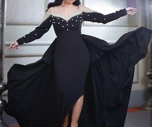 black prom dress, dubai fashion, and 2021 prom dresses image