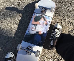 skate, converse, and couple image