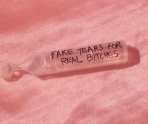 pink, aesthetic, and tears image
