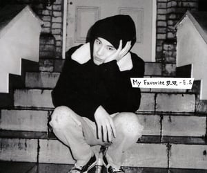black and white, eric, and kpop image