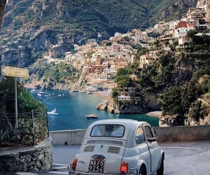 italy, Amalfi coast, and car image