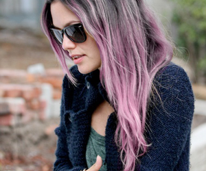 fashion, purple, and purple hair image