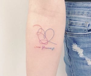 tattoo, love yourself, and heart image