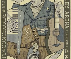 flight of the conchords, illustration, and poster image