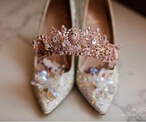 diadem, etsy, and rose gold wedding image