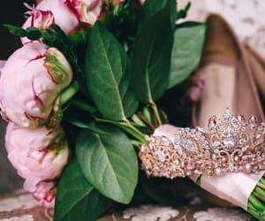 wedding headpiece, rose gold tiara, and diadem image