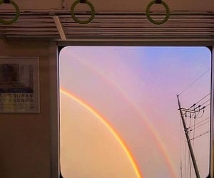 rainbow, aesthetic, and sky image