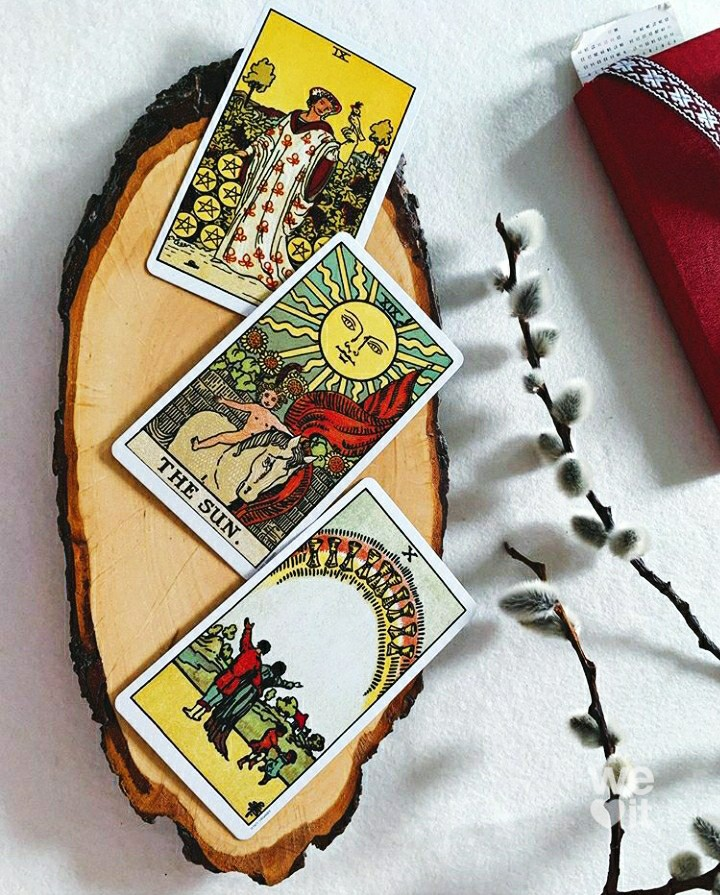 cards, tarot, and witch image