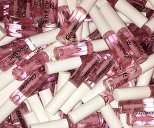 makeup, pink, and glossier image