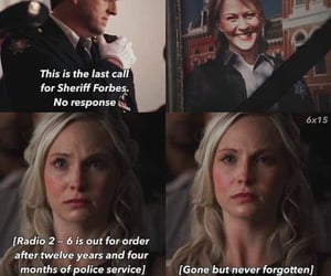 caroline, tvd, and the vampire diaries image