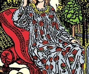 art, feminine, and tarot image