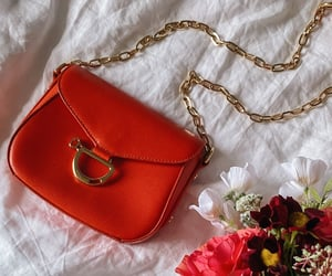 bag, gold, and orange image