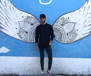 angel, black, and boy image