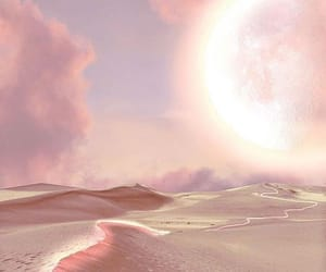 pink, desert, and nature image