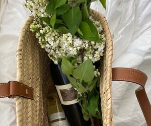 flowers and wine image