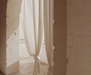 aesthetic, beige, and curtain image