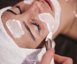 beauty, face mask, and relax image