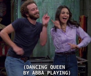 Abba, dancing queen, and fez image