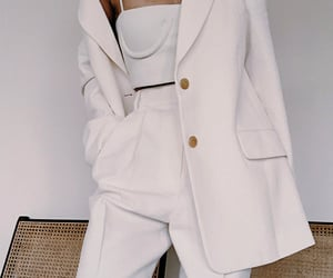 outfit, white, and fashion image