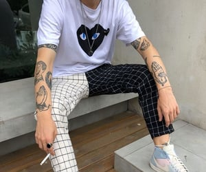 black, black and white, and cdg image