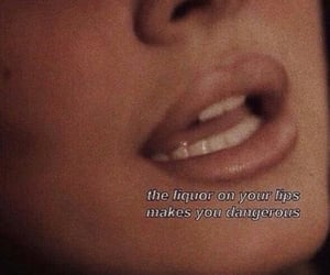 lips, quotes, and theme image