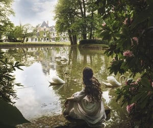 art, nature, and девушка image
