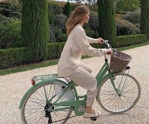 girl, bicycle, and bike image