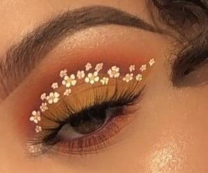 makeup, flowers, and eyeshadow image