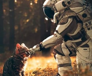 astronaut, friendly, and lové image
