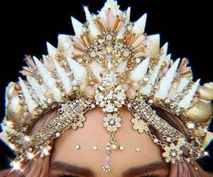 glitter, siren, and mermaid crown image