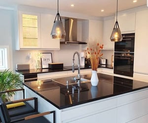 home, kitchen, and lights image