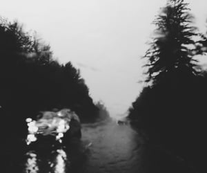 aesthetic, black and white, and driving image
