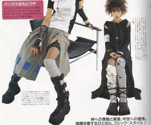 magazine, fashion, and goth image
