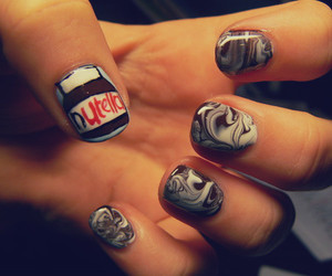 nails, nutella, and chocolate image