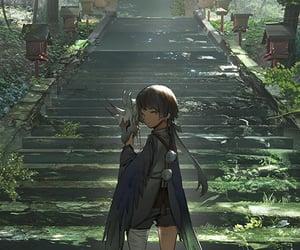 anime, torii, and yokai image