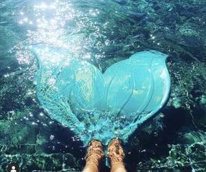 mermaid, sea, and swimming pool image