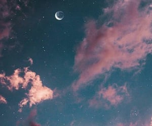 moon, wallpaper, and sky image